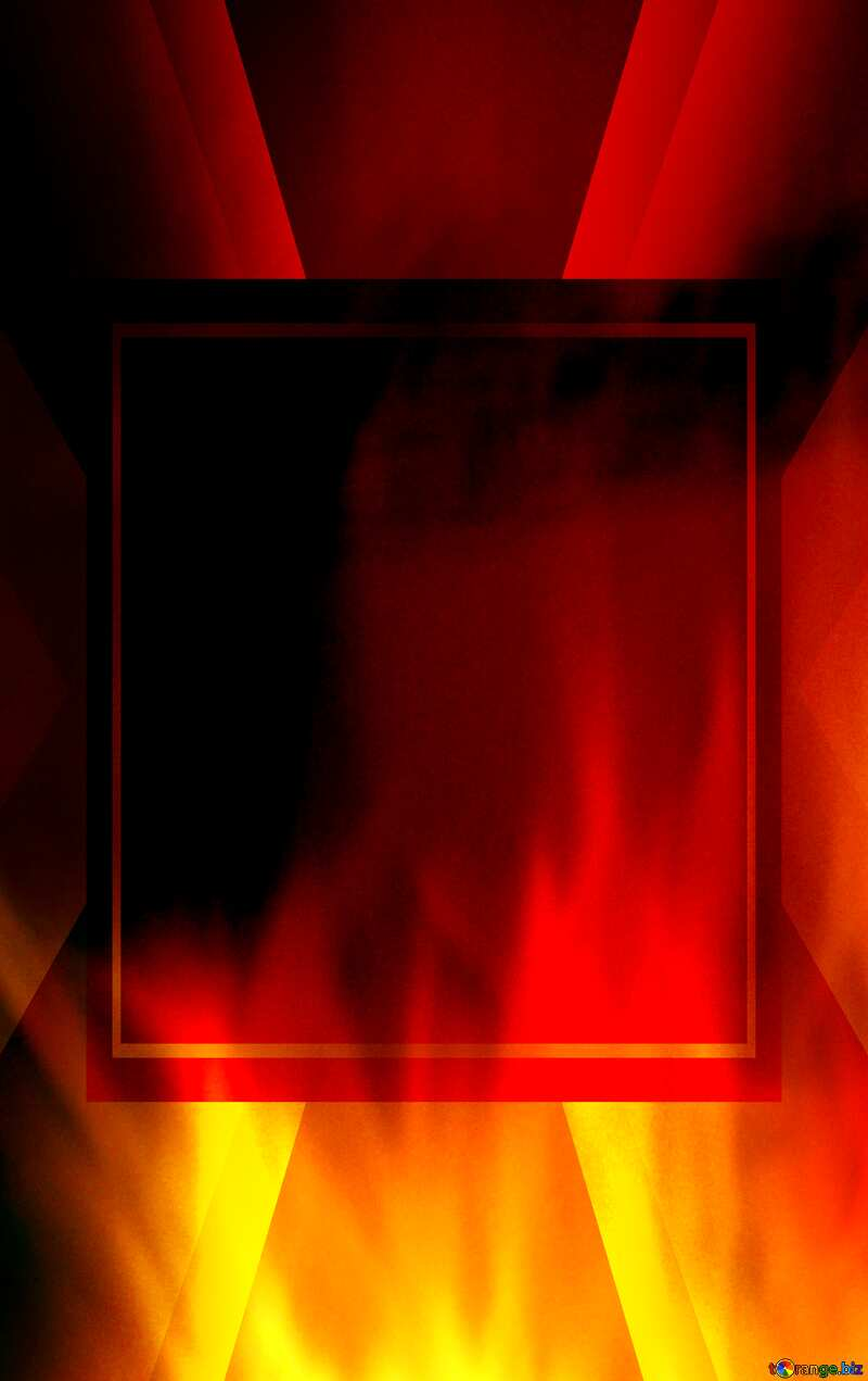 For SALE red fire banner background Template №9546