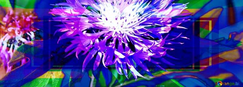 Cornflower in crystal heart Banner Template №3248