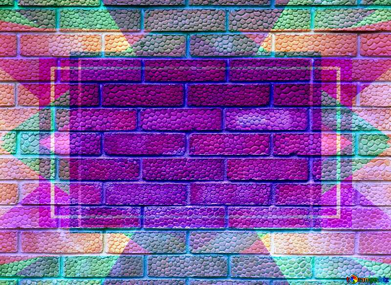 Efflorescence on the red texture bricks.Texture Template Frame №5326