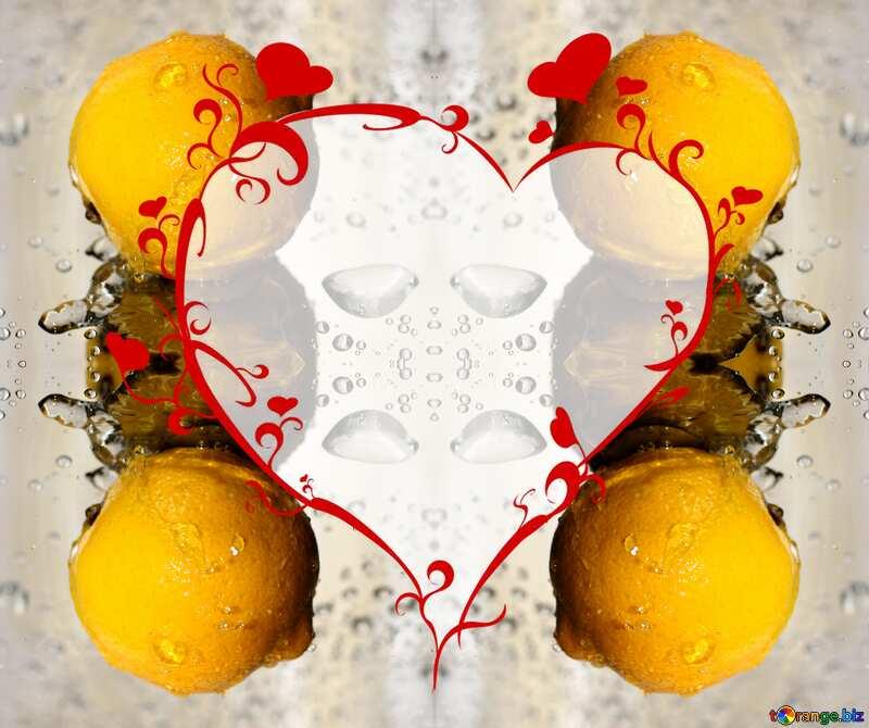 Lemon heart pattern №30865