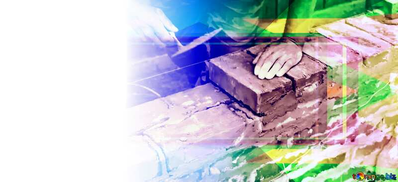 With place for text. Brick laying. Design Frame Template №2880