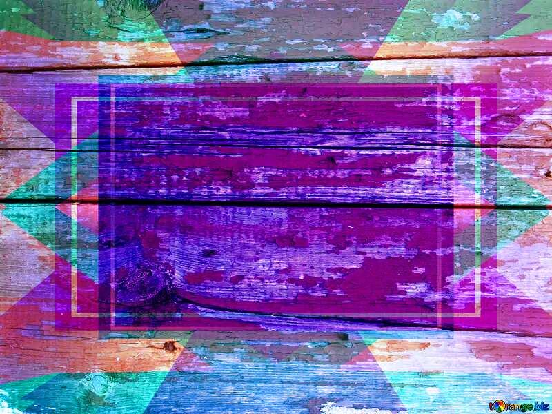 Peeling paint on the wood. Design Frame Template №5348