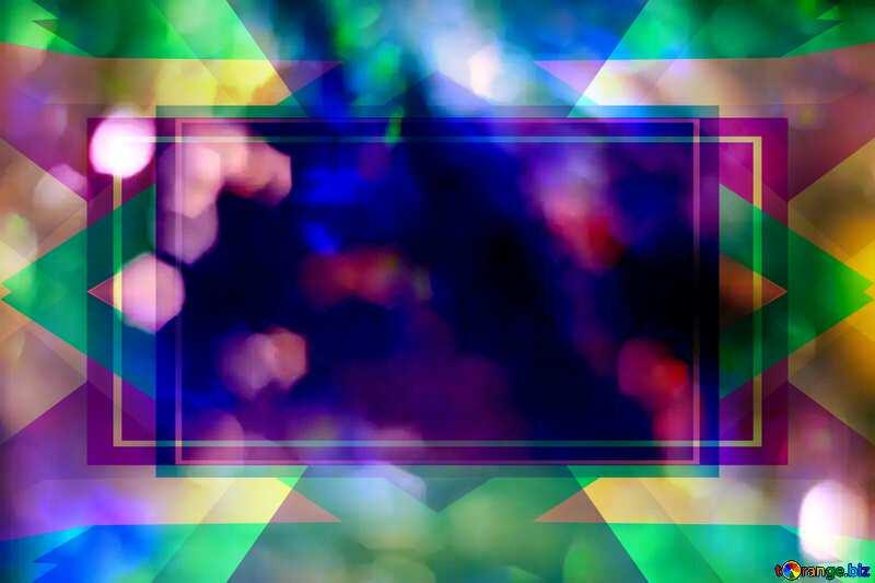 Bright color background. Frame Design Template №6676