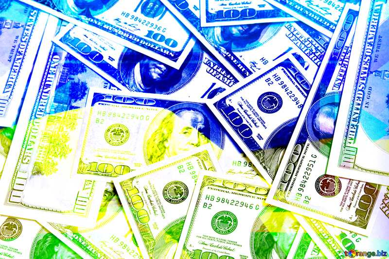 Ukrainian Dollars Business Design Frame №1507
