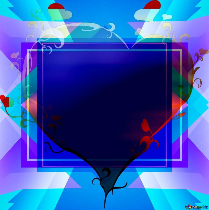 Christmas Red Ball love heart Frame Design №6923