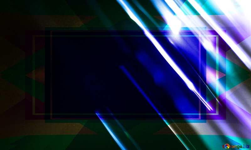 Brown background Blue Blank Illustration Frame Design Template №1700