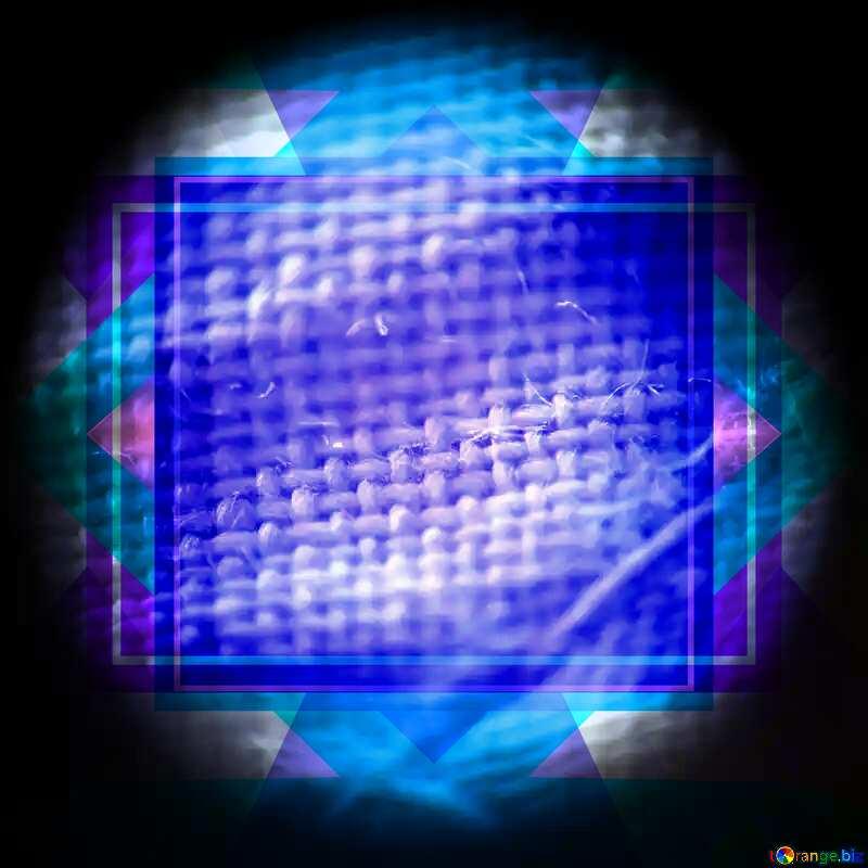 Fibers tissue under the microscope Frame Illustration Template №1038