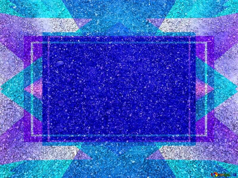 Asphalt Blue Blank Banner Design Frame Template №5146