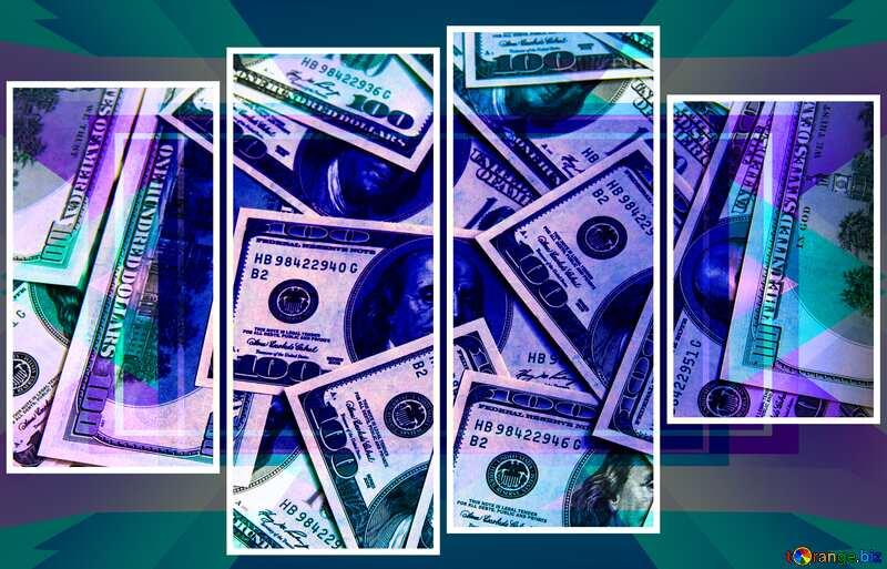 Dollars modular picture Design Frame Template №1507