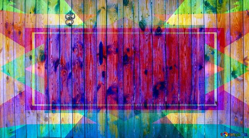 Wooden gates. Frame Infographic Illustration Template №5334