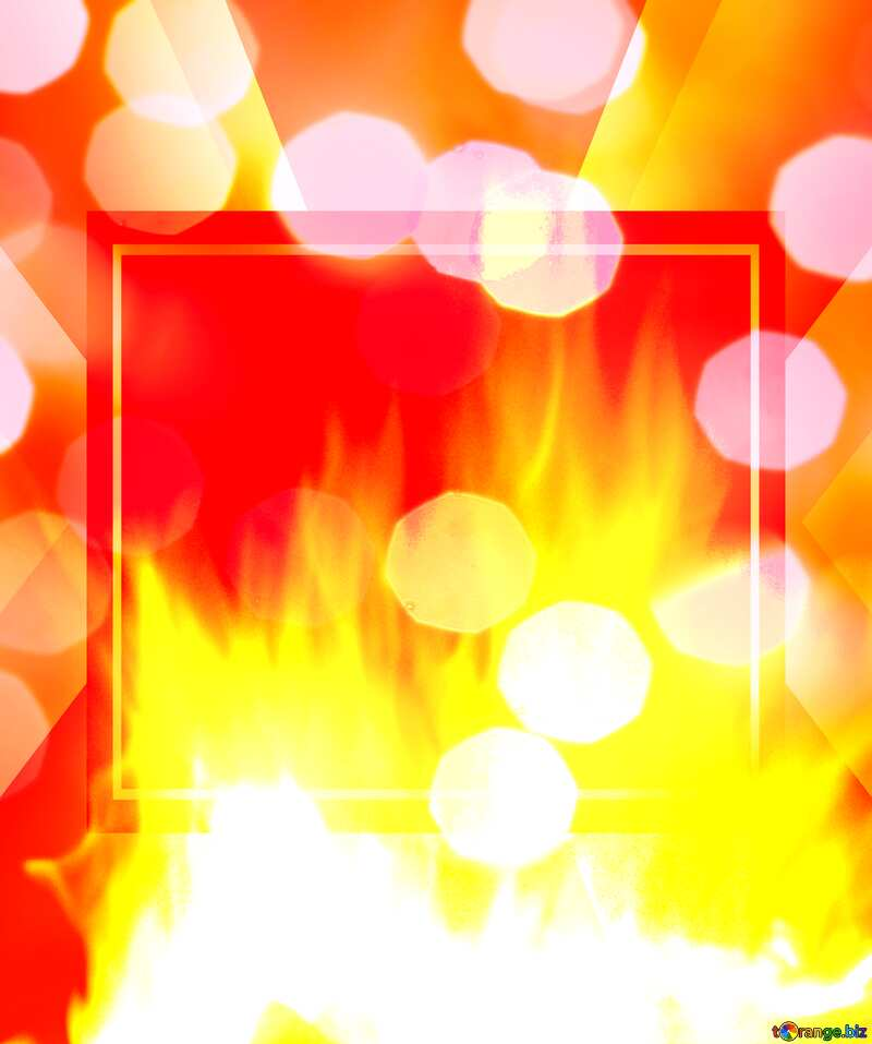 Background. Fire Wall. Bokeh. Responsive Infographic Template №9546