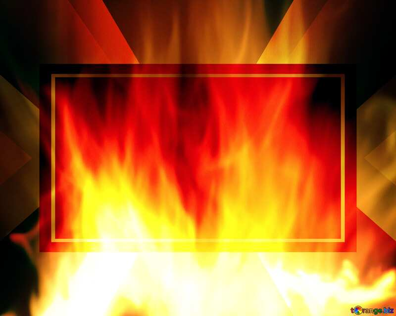 Background. Fire Wall. Design Infographic Powerpoint Template №9546
