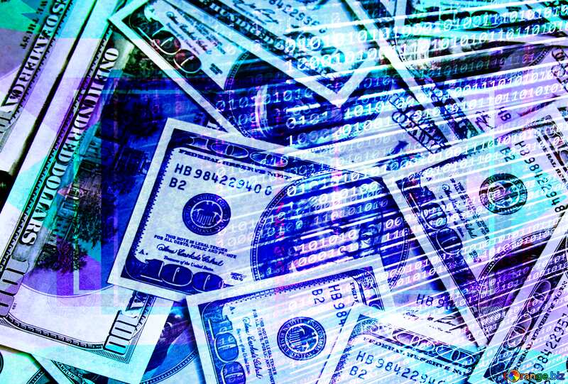 Dollars internet digital background Template №1507