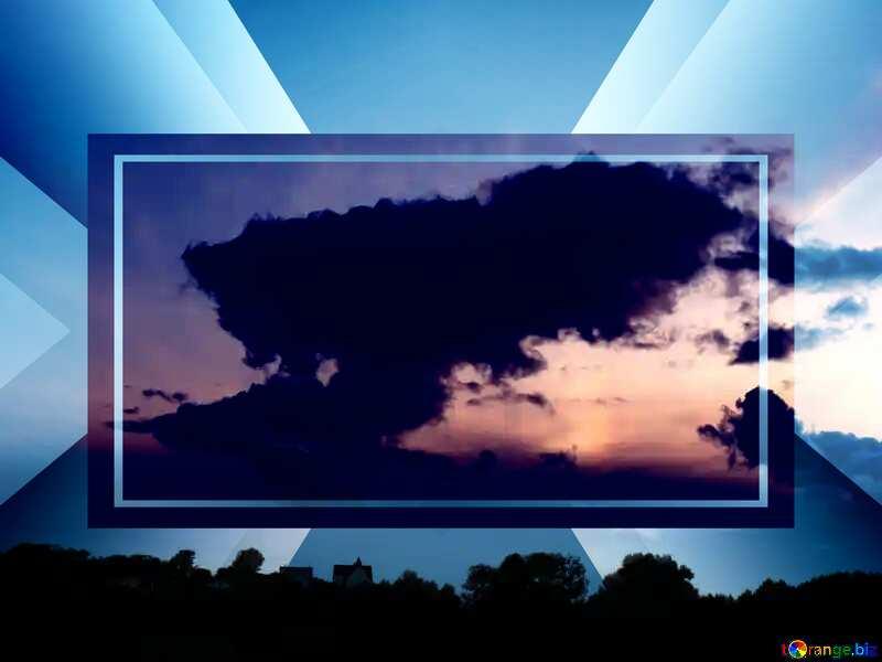 Sunset cloud Template №9615