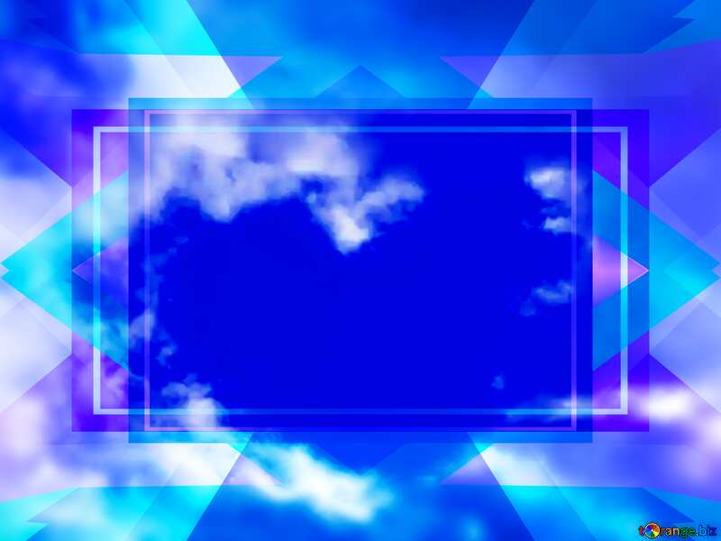 Love in Heaven Blue blank illustration template frame powerpoint website infographic template banner layout design responsive brochure business Blank Frame Design №22601