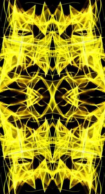 Die Wirkung der Rotation. Die Wirkung des viel dunklen. Bruchstück. Rahmenmusters.