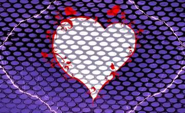 Die Wirkung von Bunt strahlend blauen. Bruchstück. Muster-Herz.
