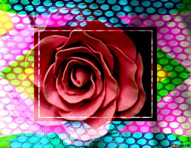 Rose flower Geometric Grill iron deco art style Frame №48638