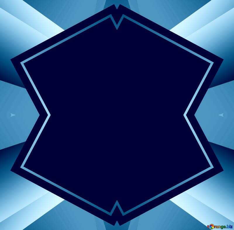Geometrical  template frame dark Blue №49675