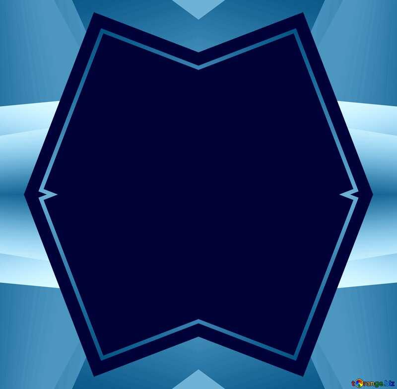 Blue illustration template frame №49675