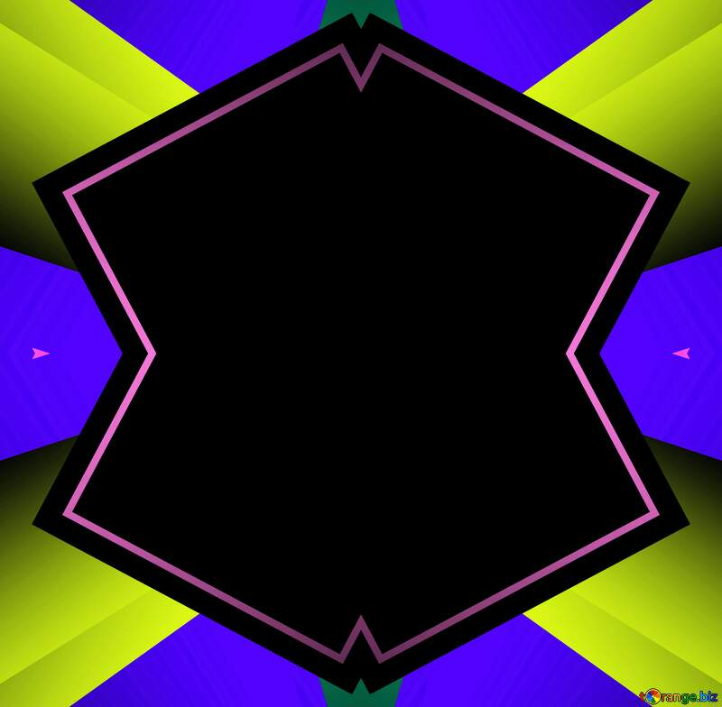 Colorful illustration geometrical template frame №49675