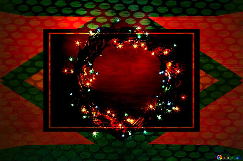 Christmas wreath with space for text Geometric Grill iron deco art style Frame №48022