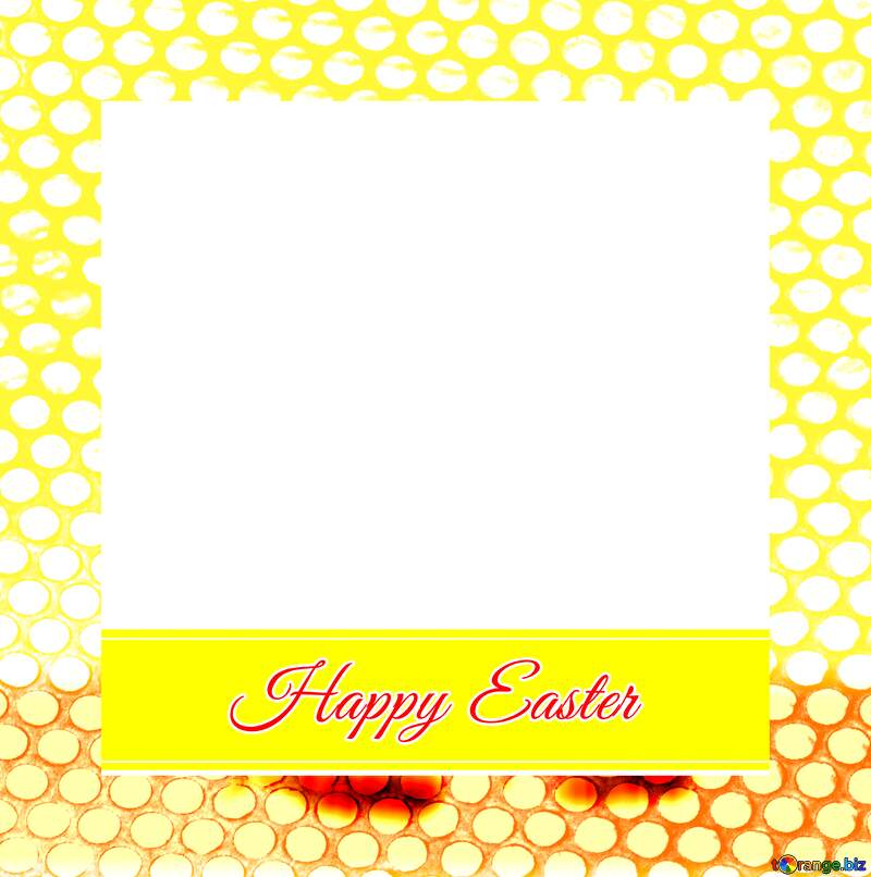 Frame with Inscription Happy Easter infographic template banner layout design Steel hole metal grill №49668