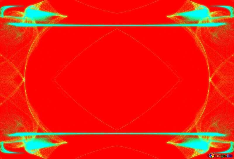 Red fractal  pattern frame №40626
