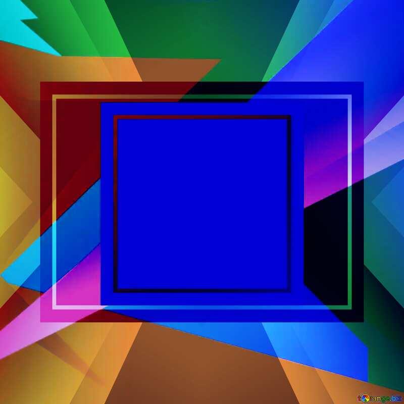 Geometrical Future Trend  template frame blue  layout design №49675