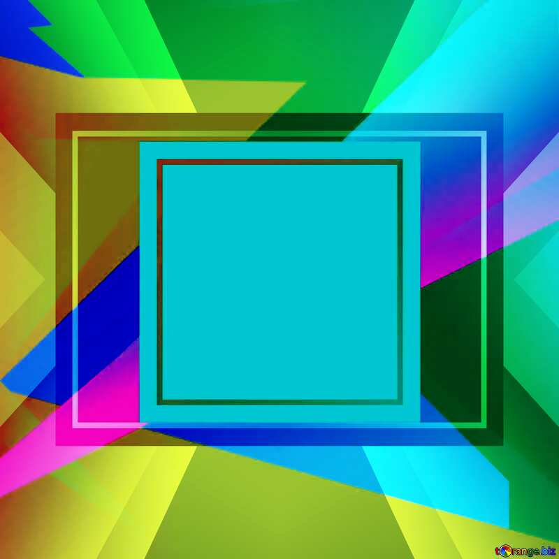 Colorful illustration template frame powerpoint picture №49675