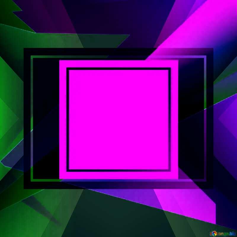 Geometrical Future Trend  template frame dark  design №49675