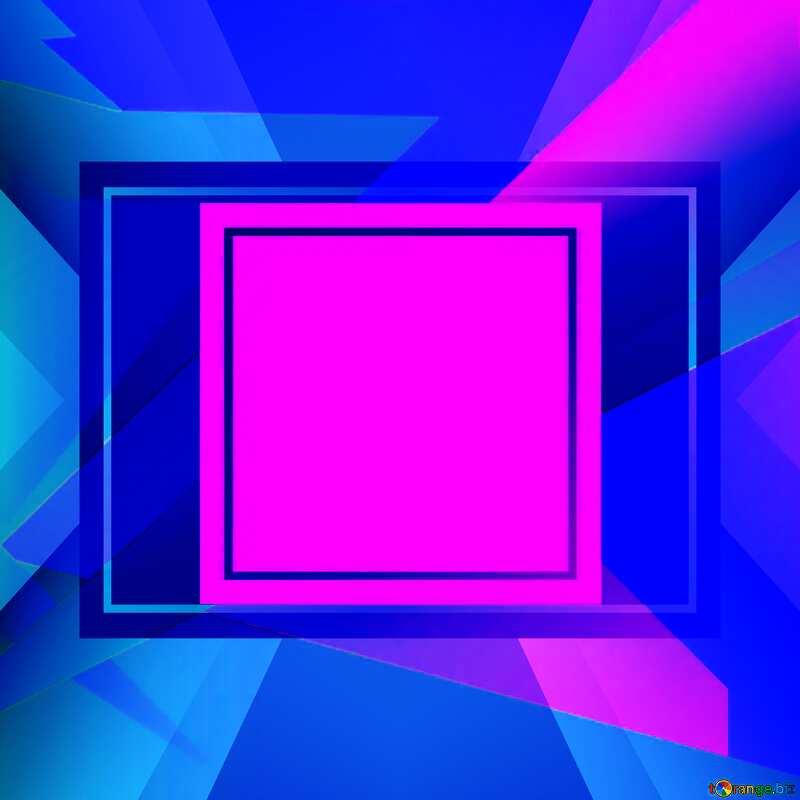 Geometrical Future Trend  template frame violet design №49675
