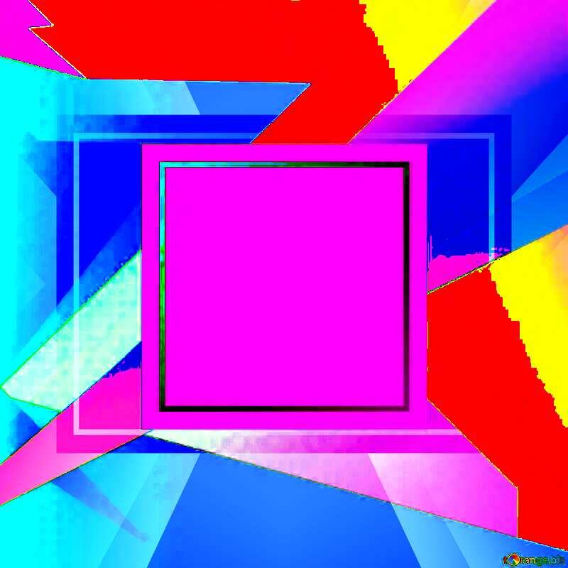 Geometrical Future Trend  template frame Colorful №49675