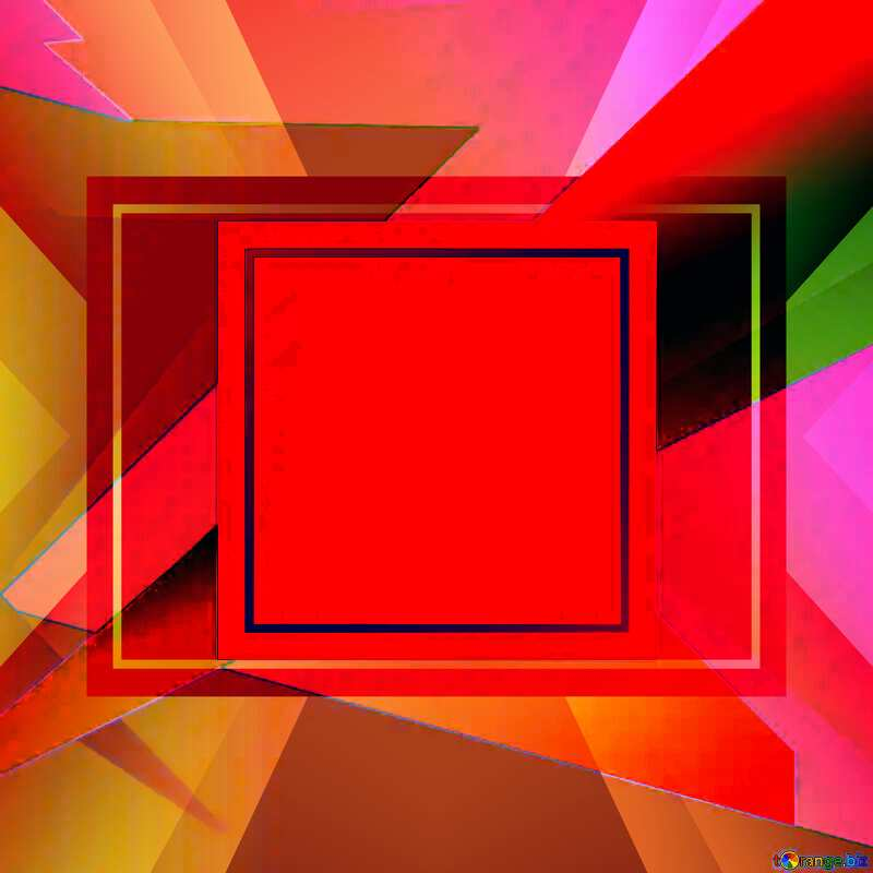 Colorful illustration template frame red №49675