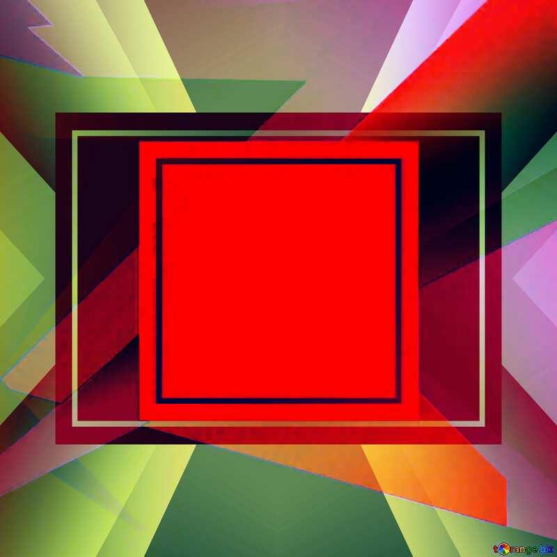 Colorful illustration template frame responsive №49675