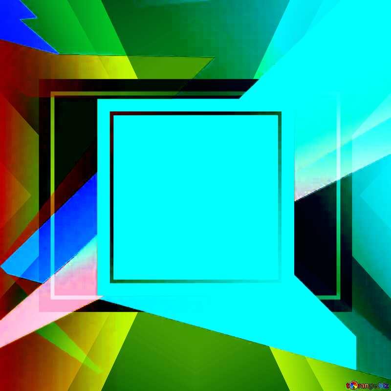 Colorful illustration template frame design №49675