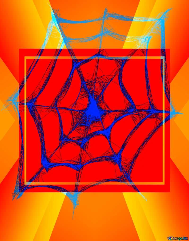 Halloween Spider Web template №40484