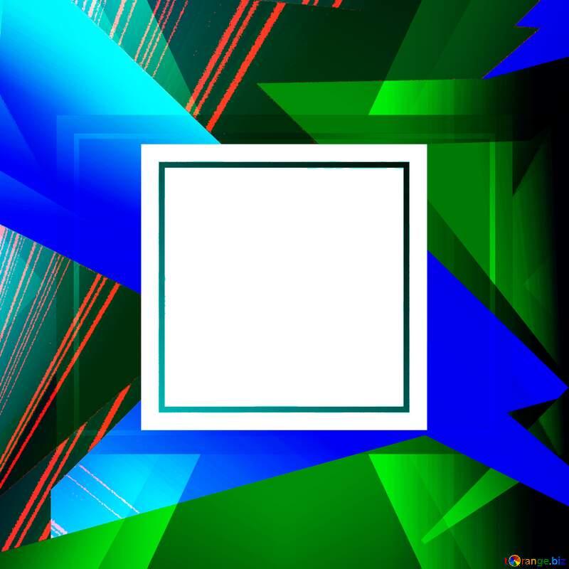 Geometrical Future Trend  template frame white №49675