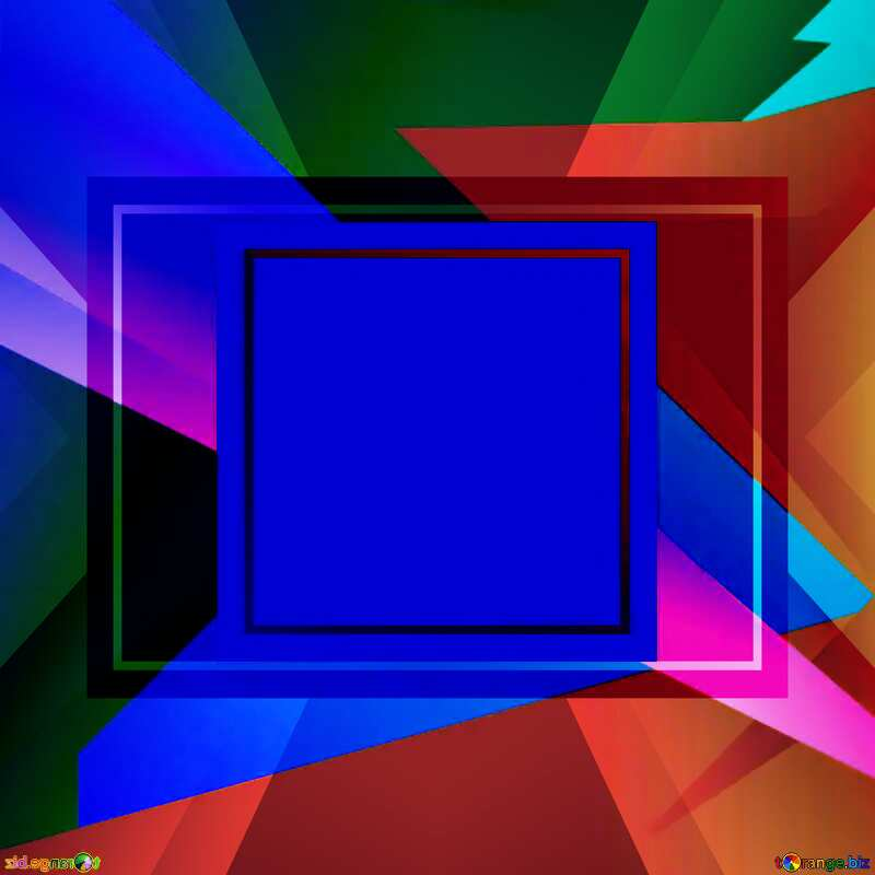 Geometrical Future Trend  template frame dark blue style №49675