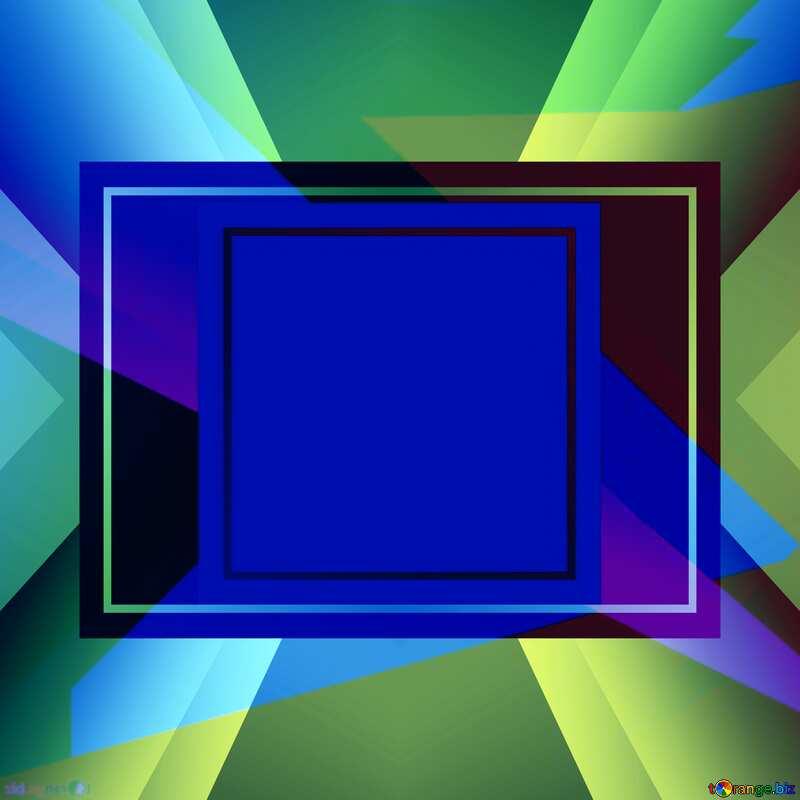 Geometrical Future Trend  template frame mirror brochure №49675