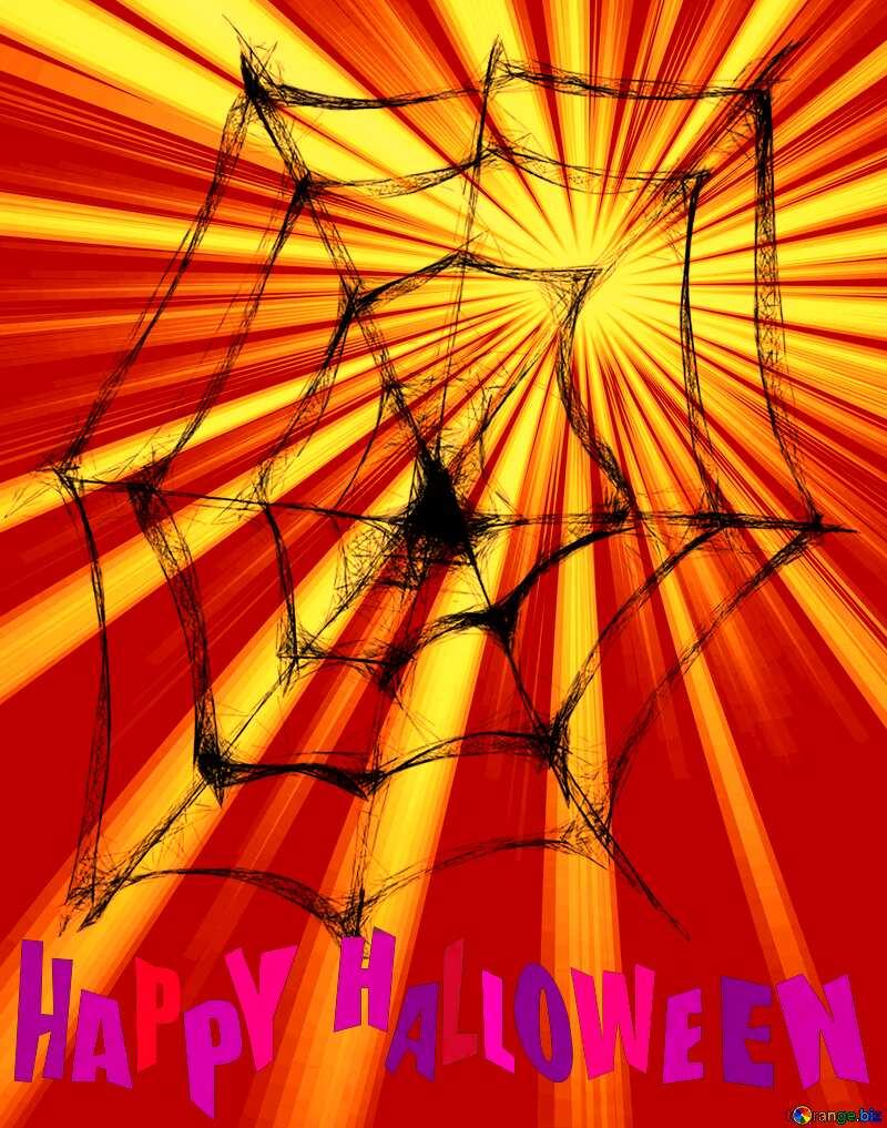 happy halloween Spider Web overlay Rays sunlight №40484