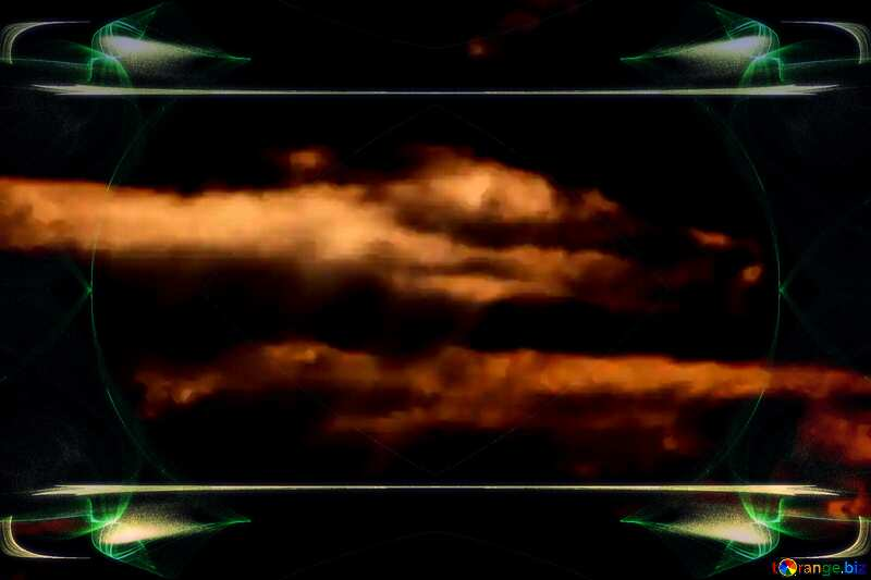 Template background for the label. Space background. Sun`s Rays Clouds Background №1116