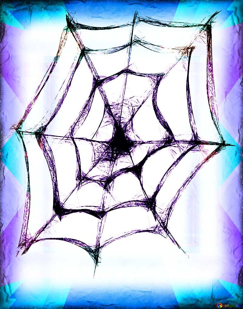 Halloween Spider Web frame №40484