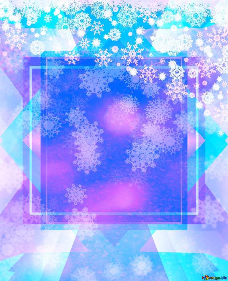 Christmas Snowflakes template №40659