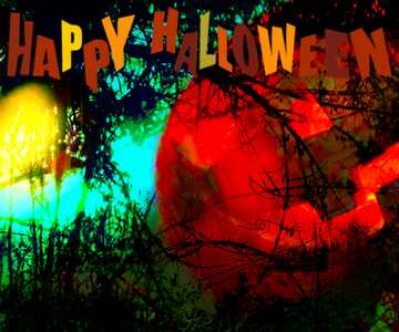 The effect of hard light. Very Vivid Colours. Fragment. Happy halloween.