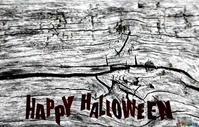 Texture of crack in the wood board Happy Halloween №39914
