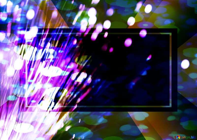 Optical fiber Bokeh colored lights №41330