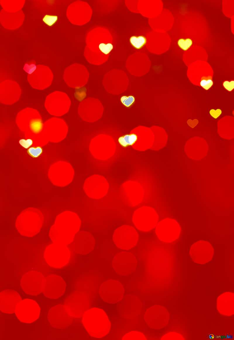 Glowing hearts red  background №37848