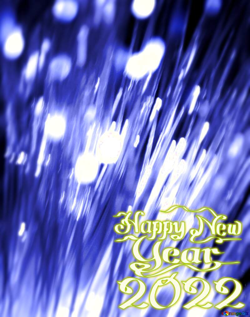 happy new year 2022 lights blue background №41330