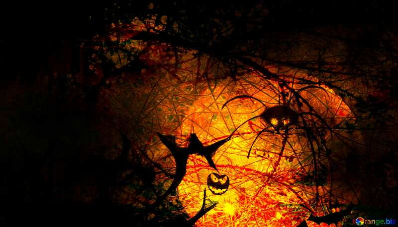 Halloween chaotic wire Spooky forest №40470